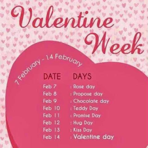 Valentine Week List 2018 Valentine Week Schedule List 2018