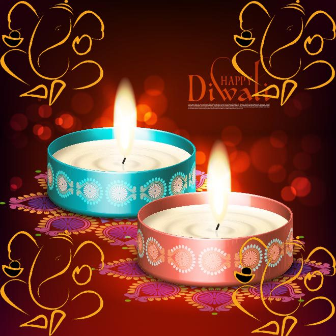 Laxmi puja wishes message in english language happy diwali 2017 cultural diwali candle greeting cards wishing wallpapers images pictures m4hsunfo