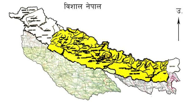 greater Nepal map picture ImNepalcom