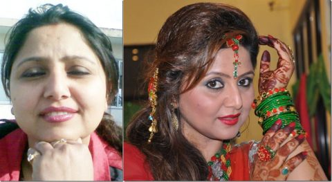 deepa-shree-niraula-before & after makeup