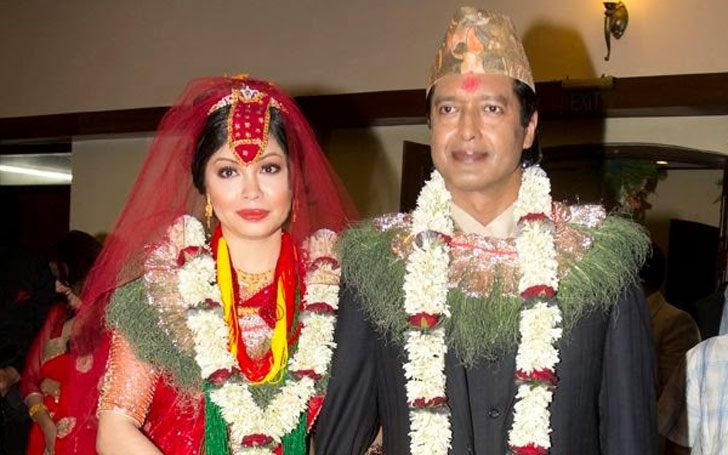 Nepali Actor Superstar Rajesh Hamal with Wife Madhu Bhattrai
