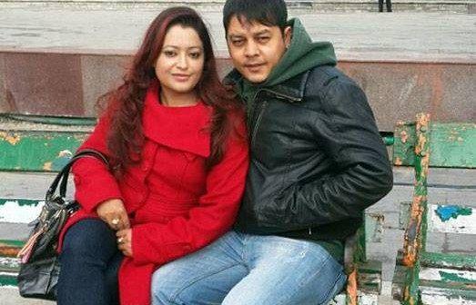 Nepali Actor dilip rayamajhi with wife
