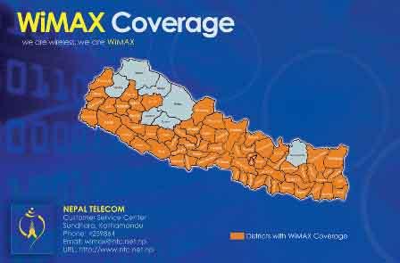"Nepal Telecom Wifi Service free ""Nepal Telecom WiMax"""