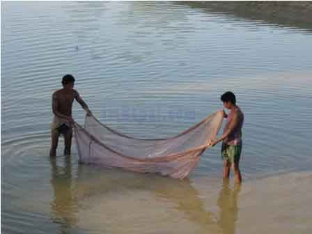 """Fishing in Nepal river """"Fishing Tours in Nepal"""""""