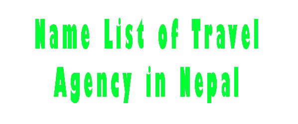 Name List of Travel Agency in Nepal